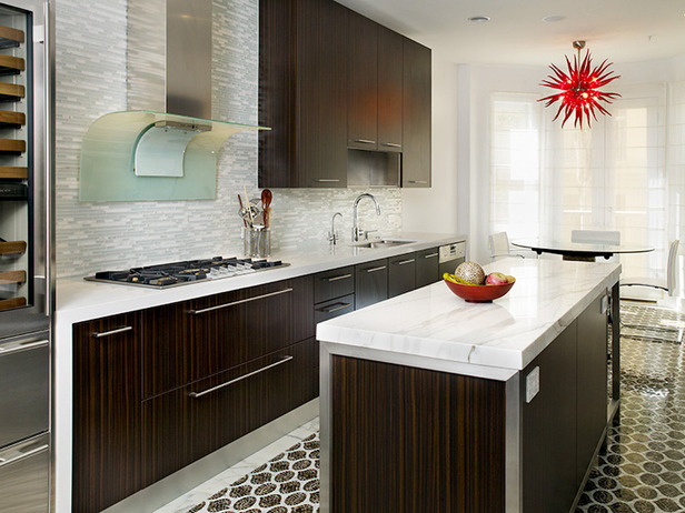 Dark Wood Kitchen Cabinets